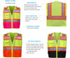 High Visibility Two Tone Safety Vest with Pockets Class 2