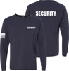 Navy Blue Long Sleeve Security T Shirt made in the USA.