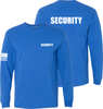 Royal Blue Long Sleeve Security T Shirt made in the USA.