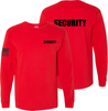 Red Long Sleeve Security T Shirt made in the USA.