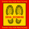 Thank You for Practicing Social Distancing Floor Decal | Covid-19 Floor Sticker | Coronavirus Floor Decal | Social Distancing Floor Sign | Pandemic Floor Sticker