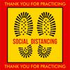 Thank You for Practicing Social Distancing Floor Decal | Covid-19 Floor Sticker | Coronavirus Floor Decal | Social Distancing Floor Sign | Pandemic Floor Sticker