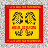 Safe Distance Social Distancing Floor Sticker   Please stay 6 ft apart floor sticker   Coronavirus Pandemic Sticker