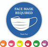 "Face Mask Required 8"" Round Decal 