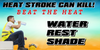 Heat Stroke Can Kill Safety Banner | Stay Hydrated Banner | Heat Safety Get Your Safety Message seen with a Safety Banner from Safety Imprints.