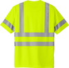 Safety Yellow Class 3 Reflective Tshirt 100% Polyester Back   Safety Green Class 3 Reflective Tshirt 100% Polyester Back