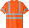 Safety Orange Class 3 Reflective Tshirt 100% Polyester Back