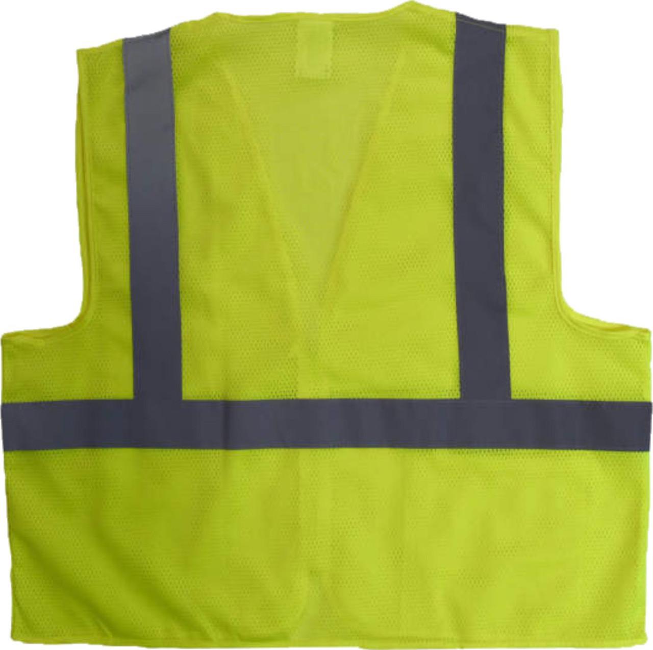SV2 Safety Yellow  Safety Vest   Safety Green Class 2 Safety Vest   Lime Safety Jacket   Hi Vis Safety Vest