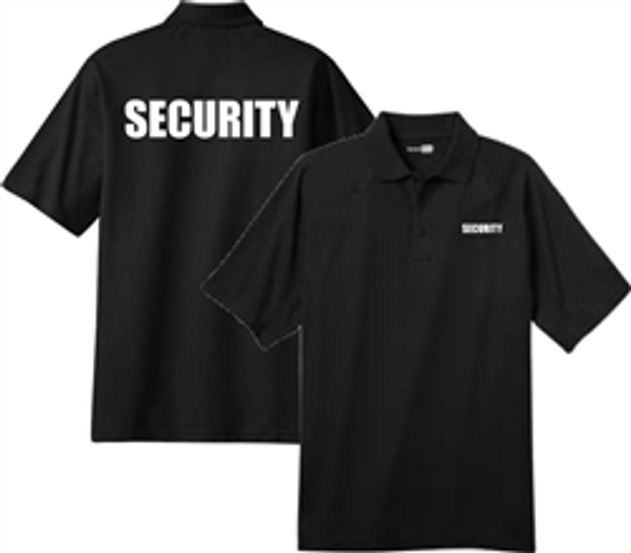Security - Black Short Sleeve Tactical Polo