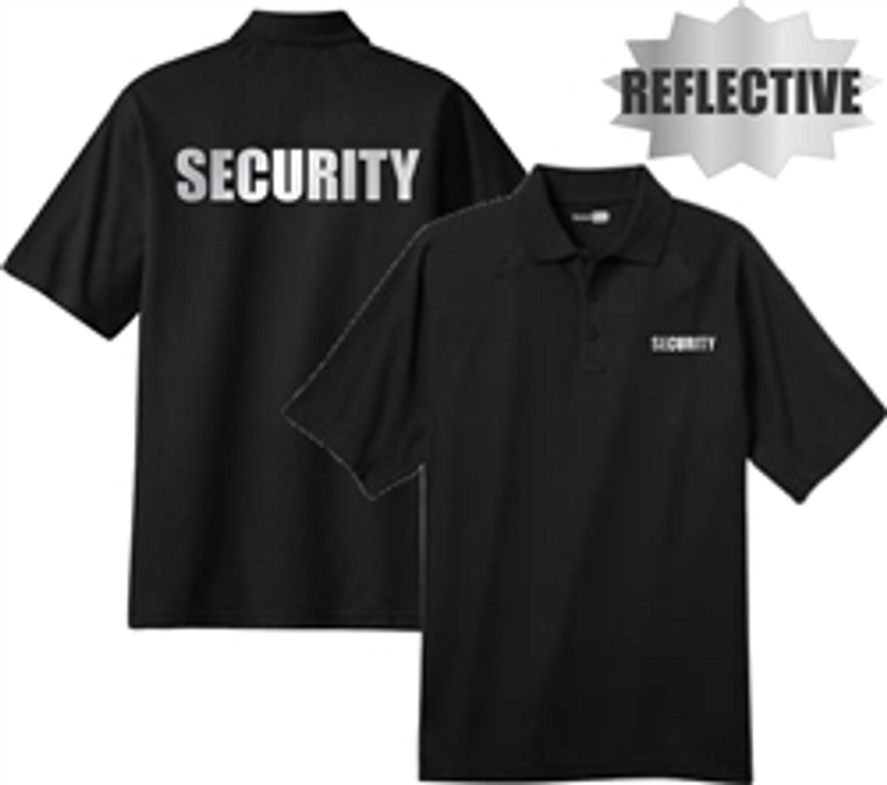 Security - Reflective Black Short Sleeve Tactical Polo