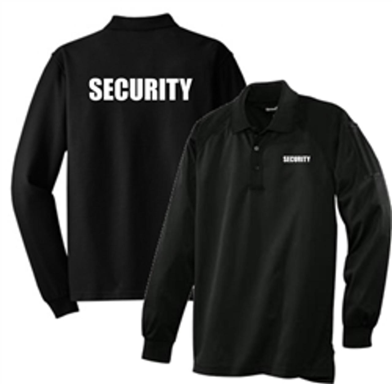 Security - Black Long Sleeve Tactical Polo