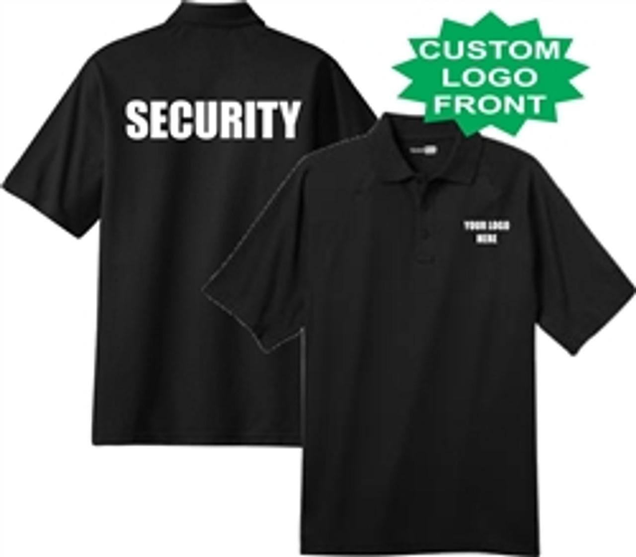 Security - Customized Black Short Sleeve Tactical Polo