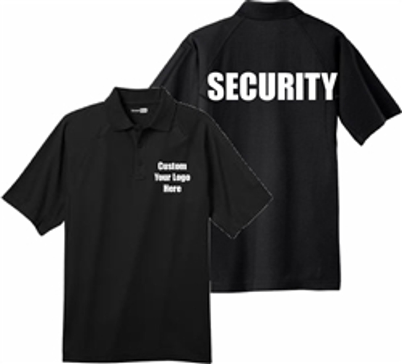 Security - Custom Embroidered Black Short Sleeve Tactical Polo