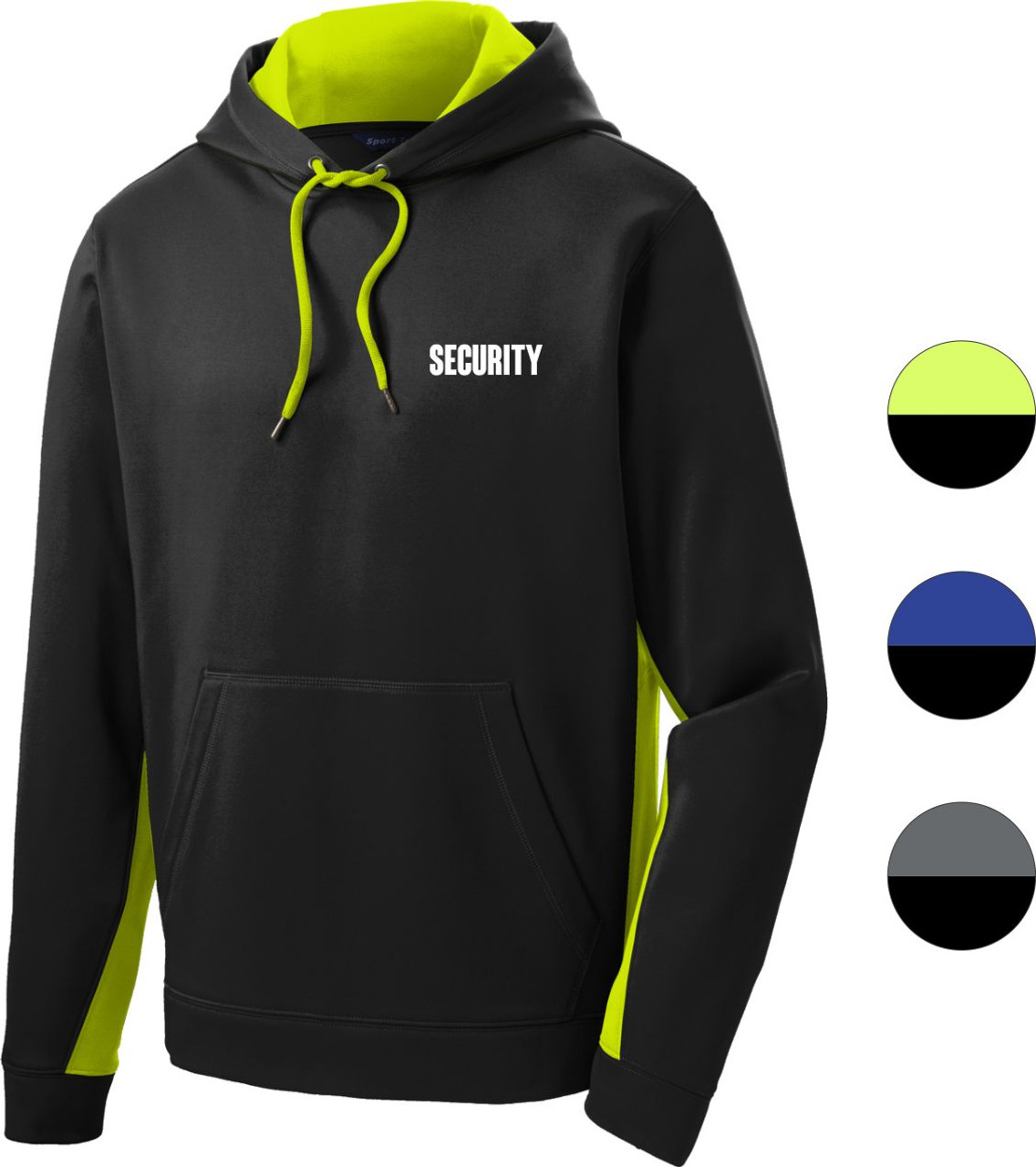 Color Block Security Hoodie   Polyester Security Hoodie   Performance Security Hoodie