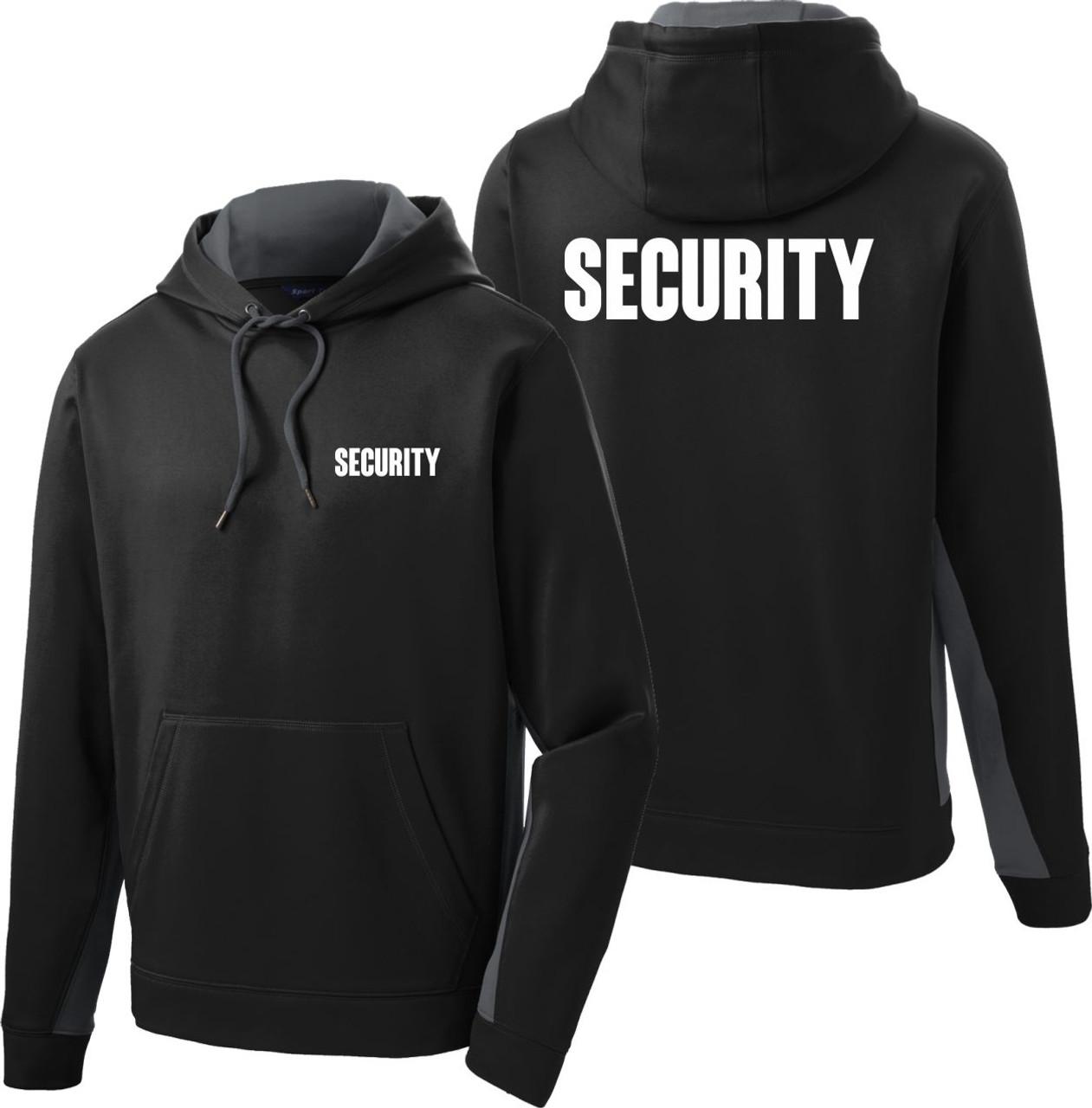 Grey and Black Security Hoodie   Performance Fleece Security Hoodie