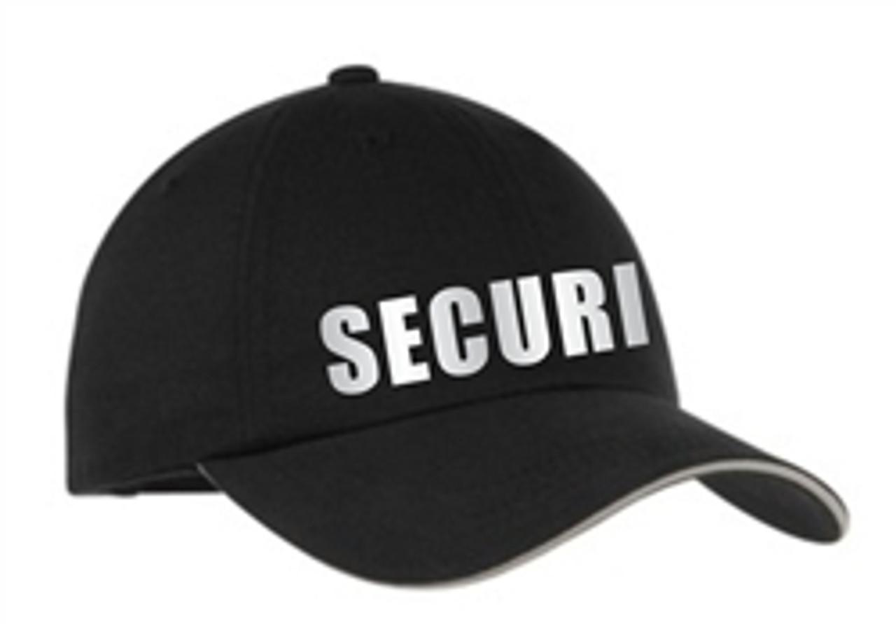 Black Reflective Security Hat