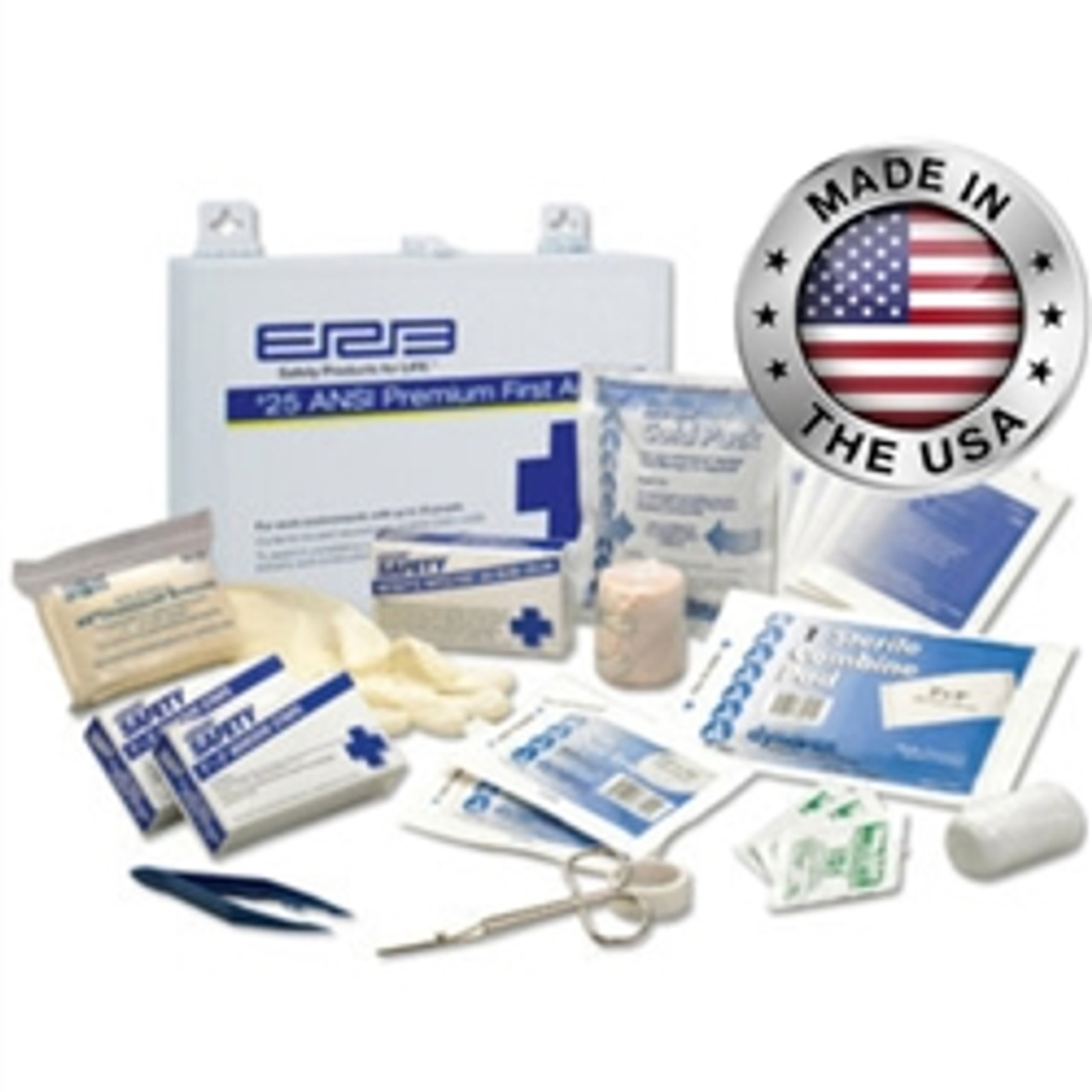 #25 ANSI Premium First Aid Kit Metal - ERB 17134