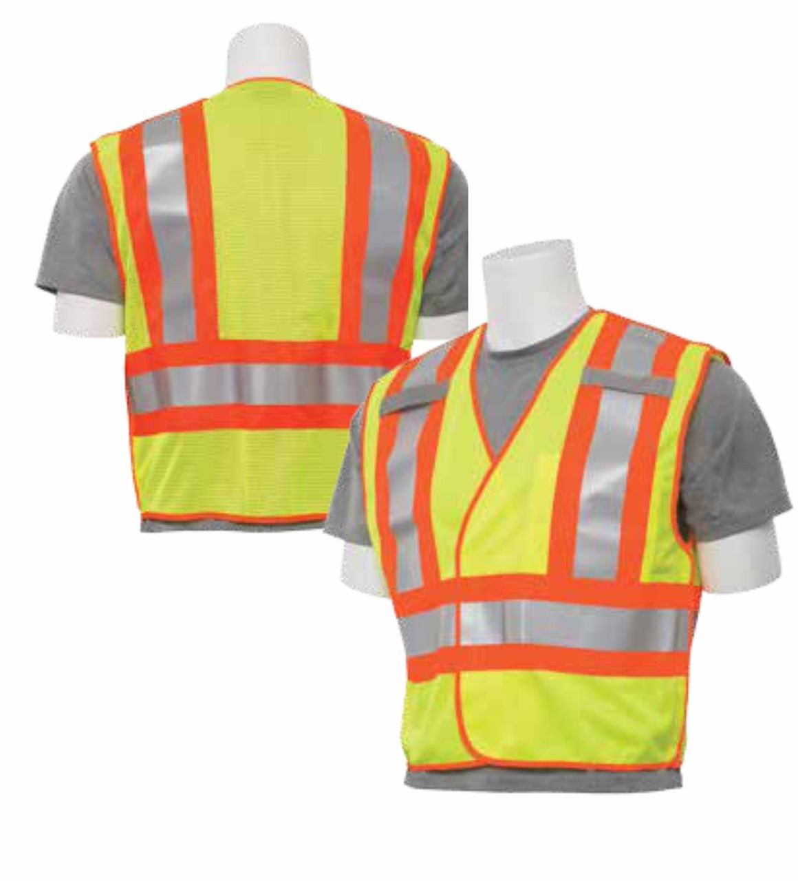 ERB S345 Class 2 Safety Vest 5 pt Breakaway - Public Safety