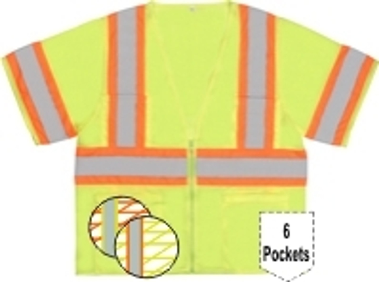Class 3 Mesh Safety Vest with Contrasting Trim - ERB S310