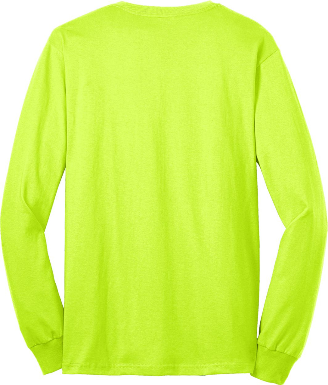 Best Construction Safety Long Sleeve Shirts | Safety Green T-Shirt