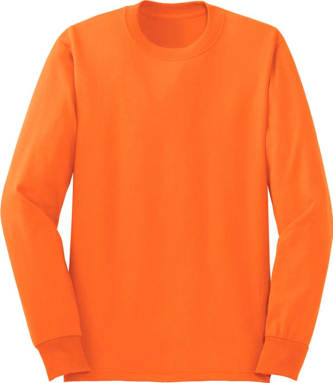 Safety Orange Long Sleeve TShirt | Hi Vis Work Shirt