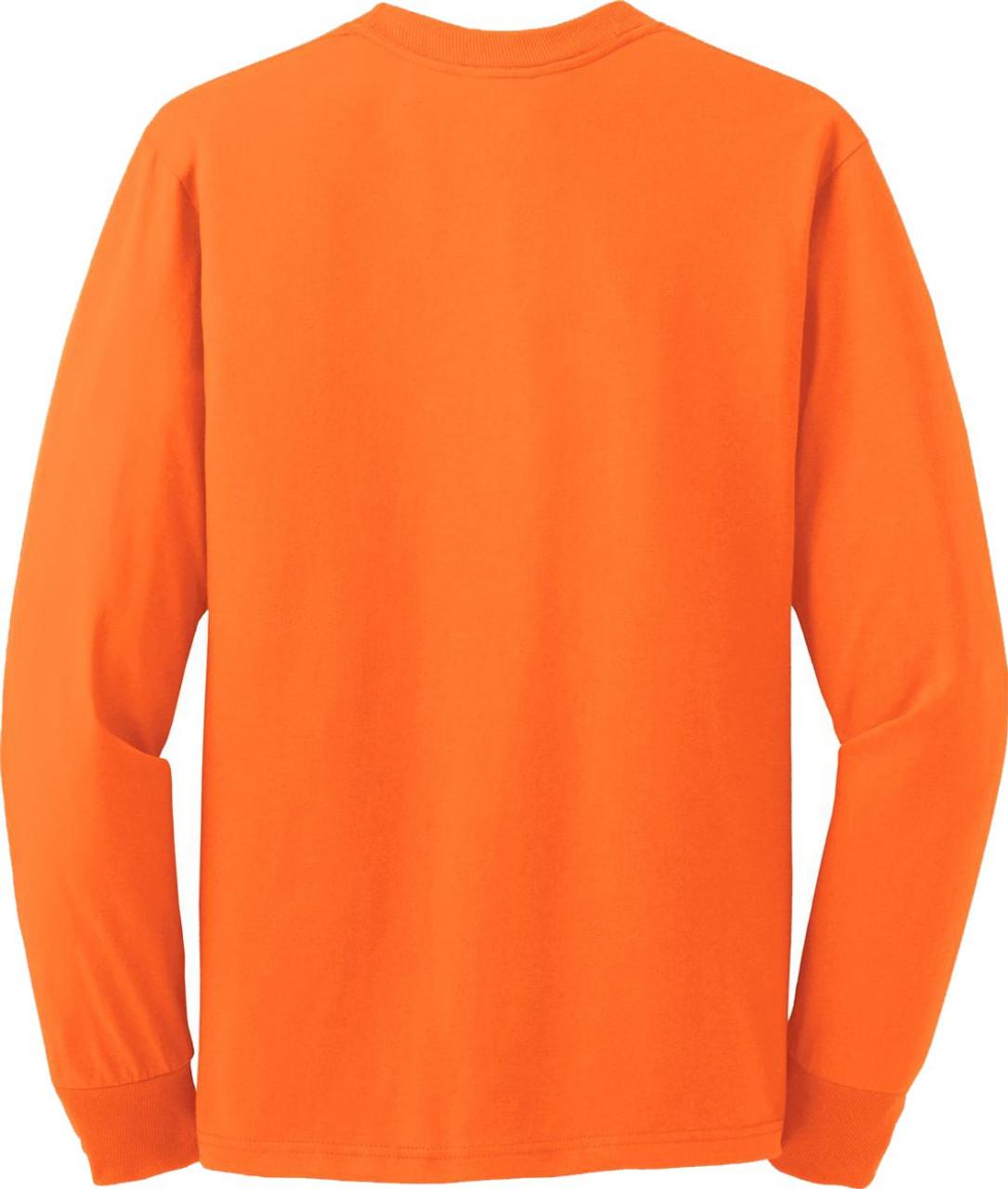 Best Construction Long Sleeve Safety Shirts | Safety Orange T-Shirt