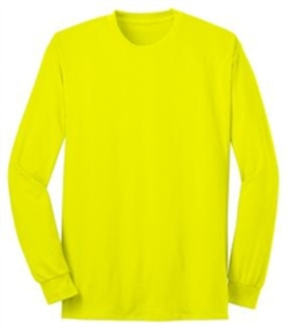Lime Green Long Sleeve T-Shirt - 50/50 Cotton/Poly (Preshrunk) USA MADE *Custom Printing Available*