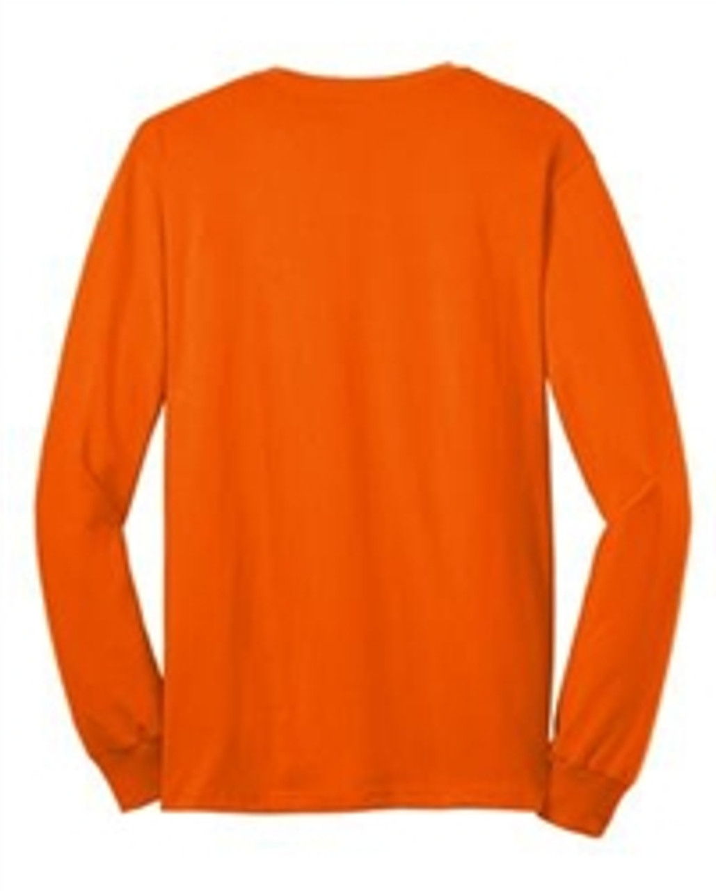 Bright Orange Long Sleeve T-Shirt - 50/50 Cotton/Poly (Preshrunk) USA MADE *Custom Printing Available*