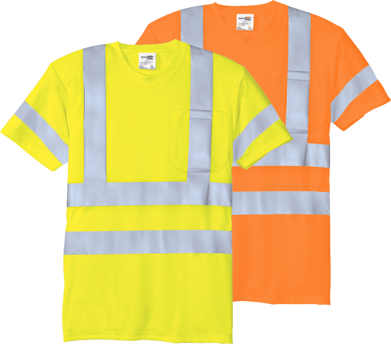 Short Sleeve Safety Pocket TShirt Class 3  ANSI/SEA 107 Class 3 Certified