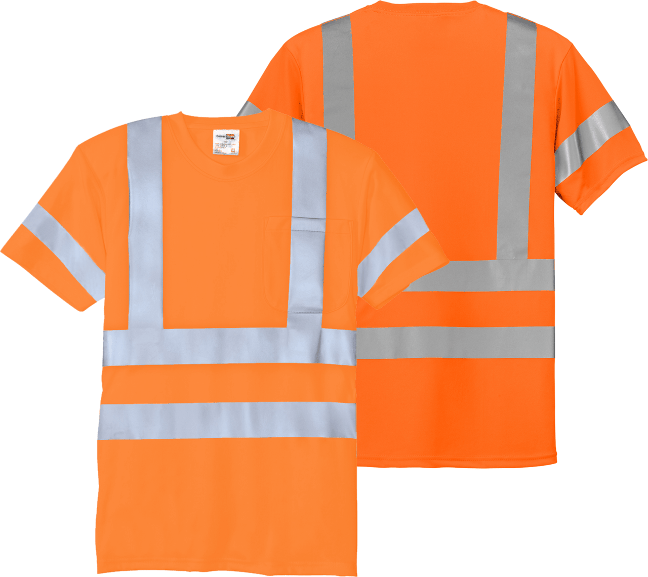 Safety Yellow Class 3 T-Shirt with Pocket ANSI/SEA 107 Class 3 Certified