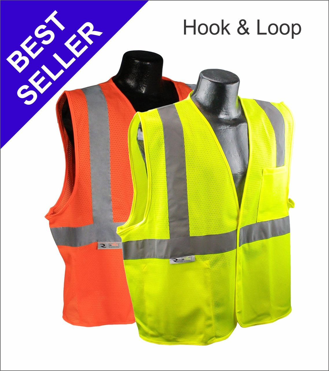 SV2 - Class 2 Safety Vest with Hook and Loop Closure