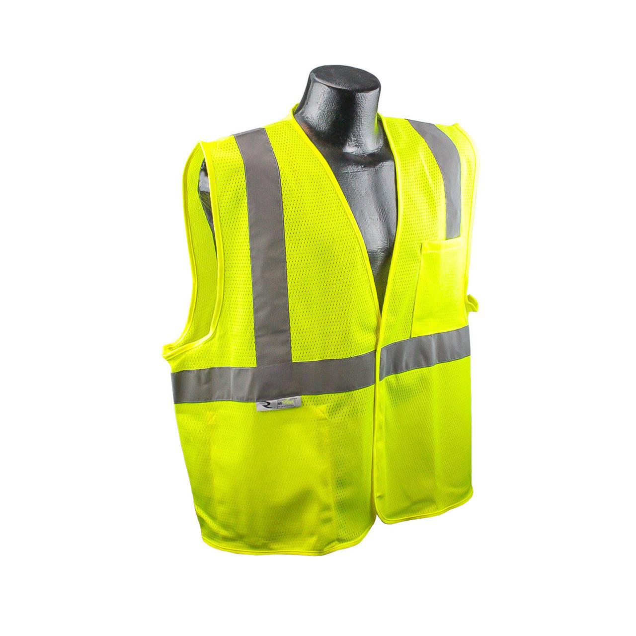SV2 - Economy Class 2 Safety Vest Front Safety Green