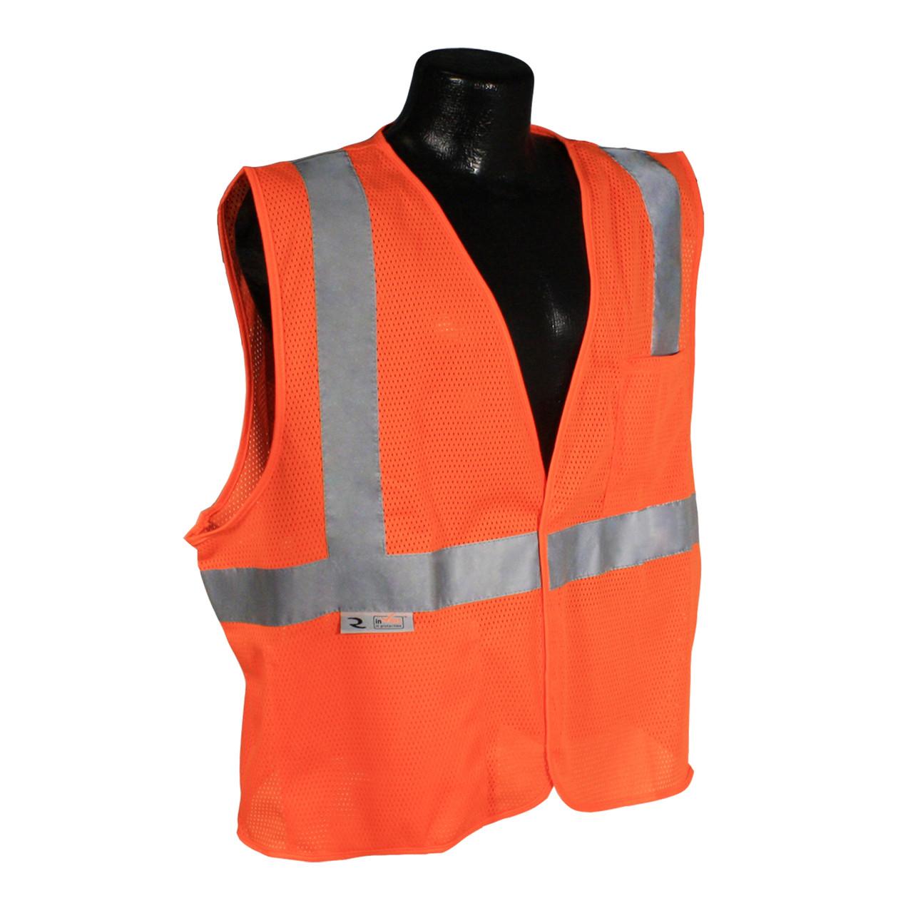 Radians SV2 Safety Orange Ansi Safety Vest Class 2