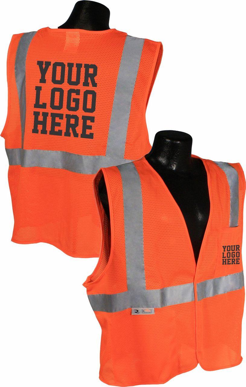 SV2 Safety Vest Safety Orange Logoed Vest