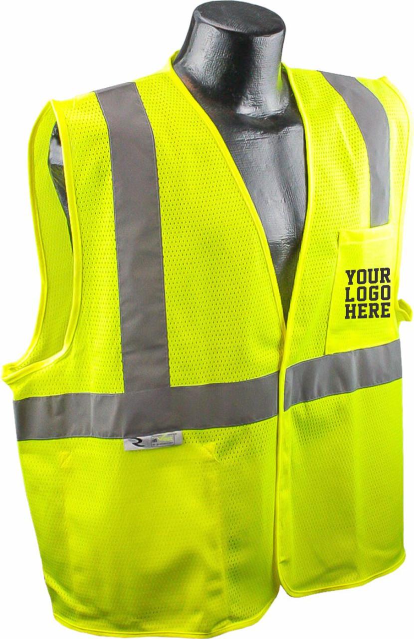 SV2 Safety Vest screen printed