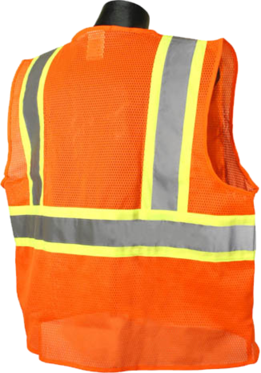 Safety Orange two tone Class 2 Safety Vest