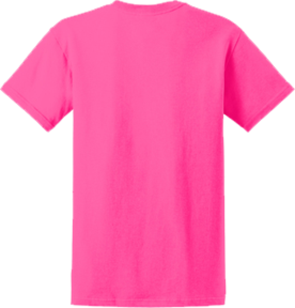 Safety Pink Short Sleeve T Shirt Back