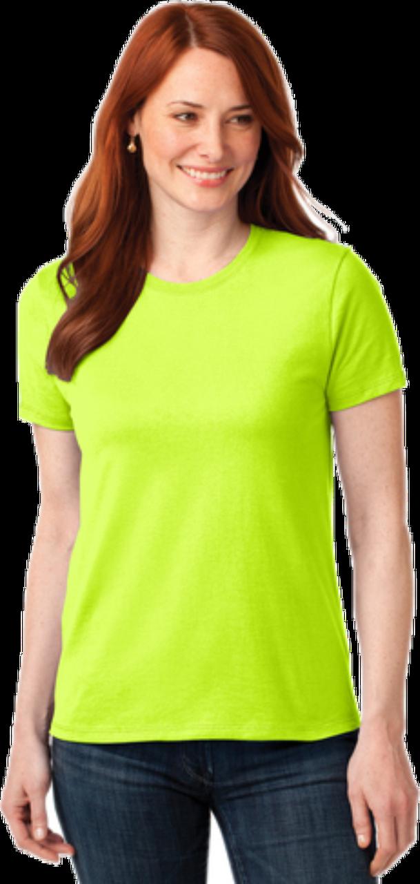 Ladies HiVis Green Short Sleeve TShirt