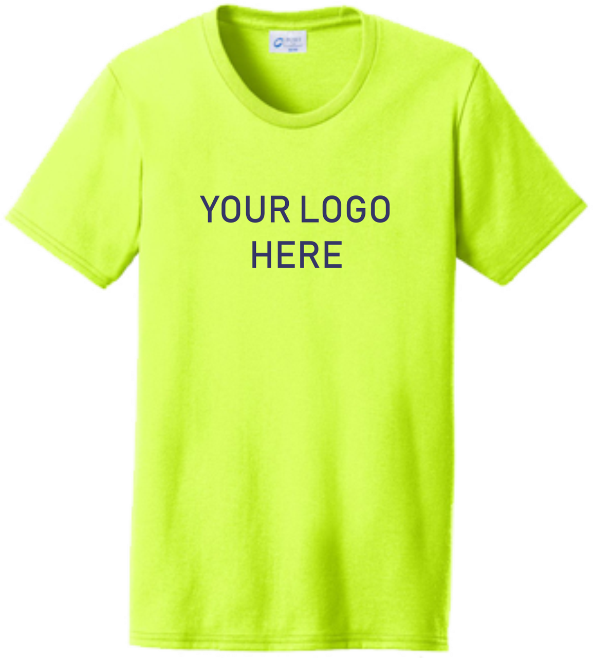 Ladies Safety Green Short Sleeve T Shirt Screen Printed Logo