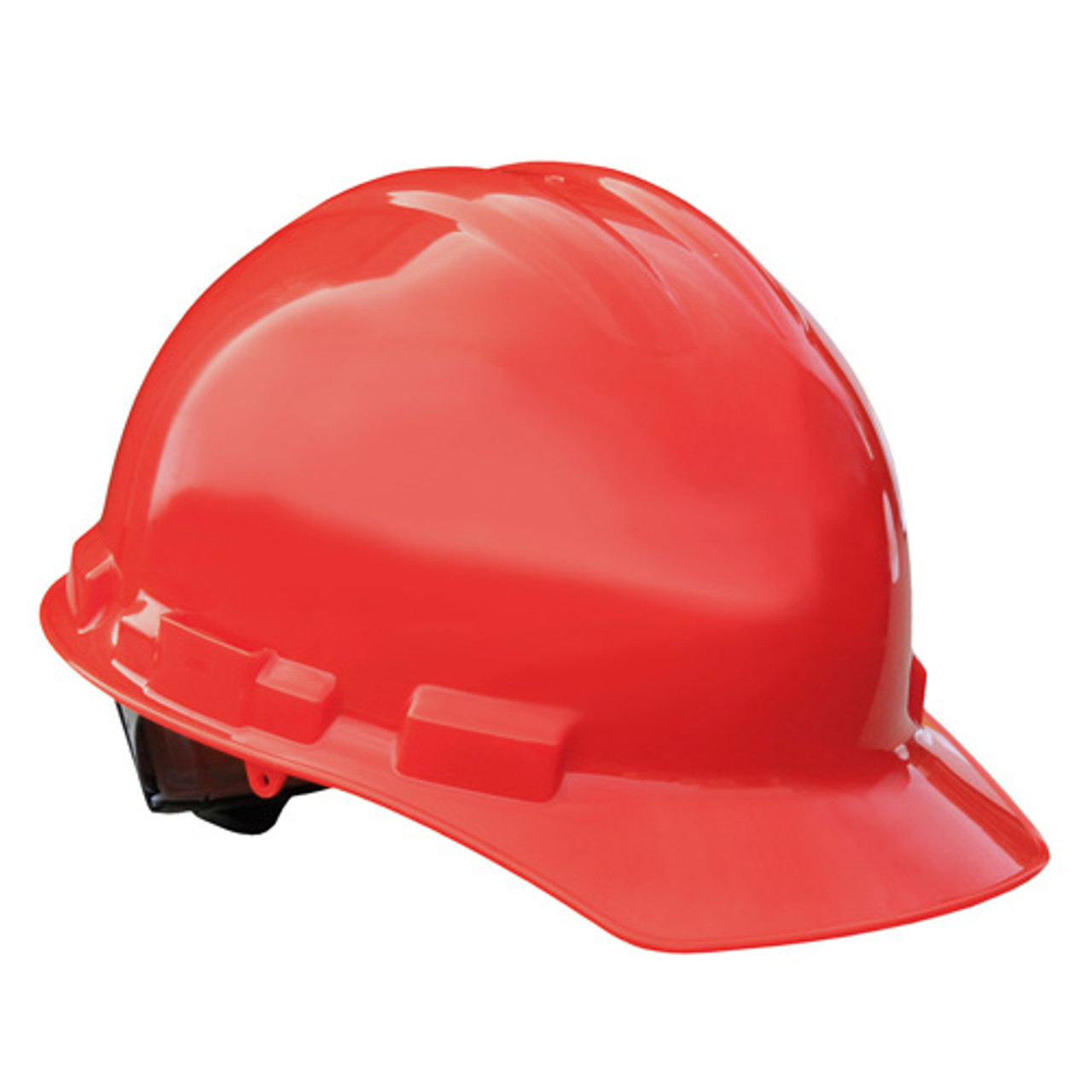 Red Radians Hard Hat Helmet with Ratchet Suspension Made in The USA