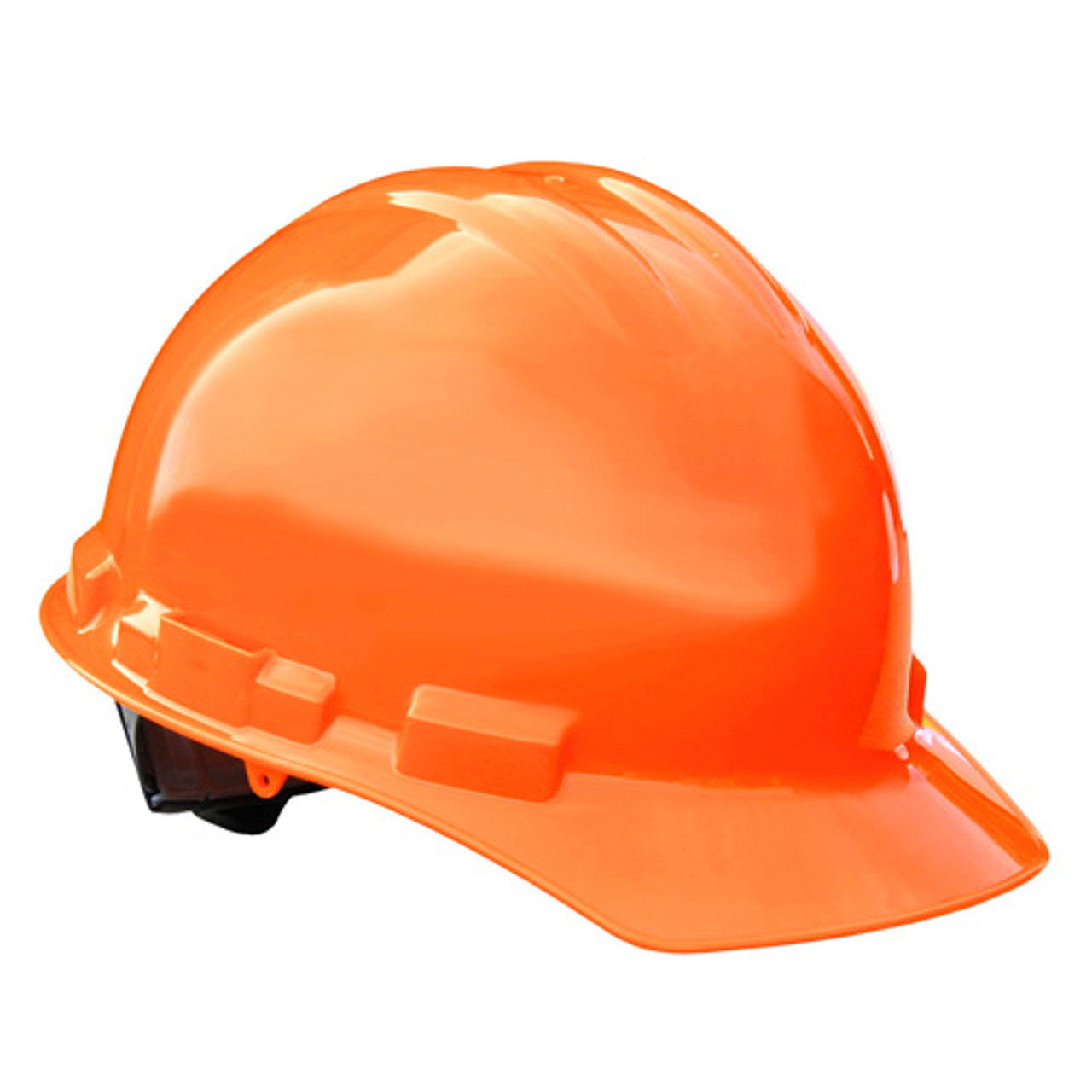 HiVis Orange Radians Hard Hat with Ratchet Suspension Made in The USA