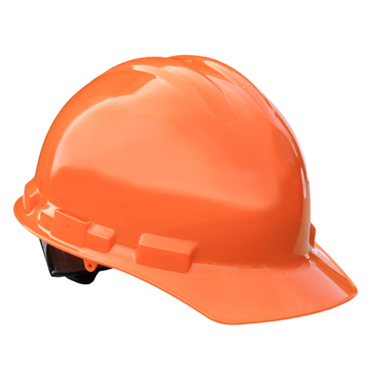 Orange Radians Hard Hat with Ratchet Suspension ANSI Type 1 Made in The USA