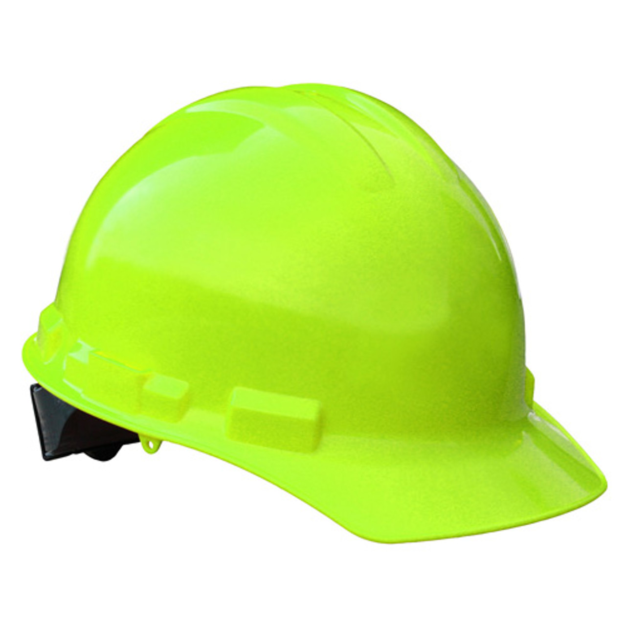 Hi Vis Lime Radians Hard Hat with Ratchet Suspension Ansi Type 1 Made in The USA