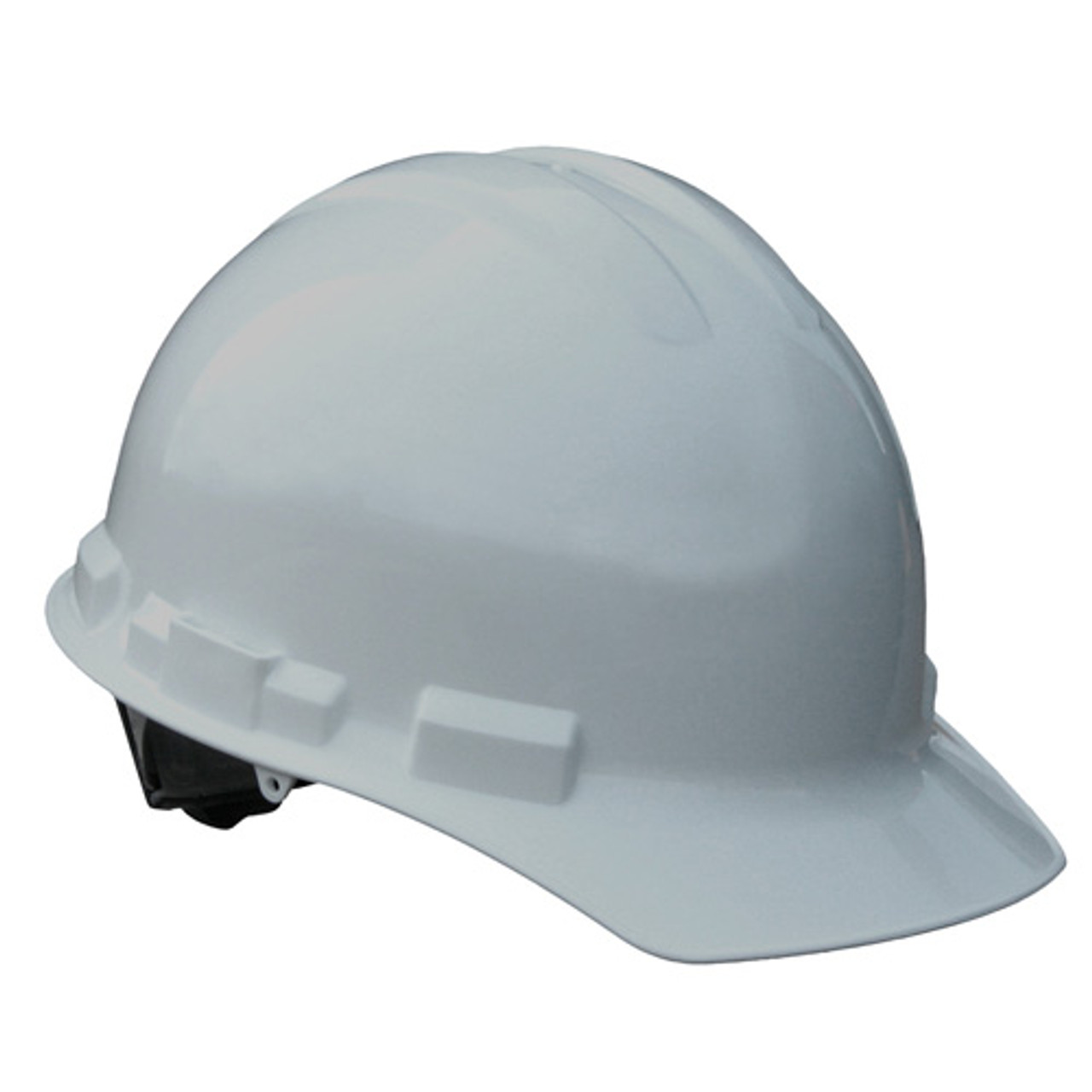 Grey Radians Hard Hat with Ratchet Suspension Made in The USA