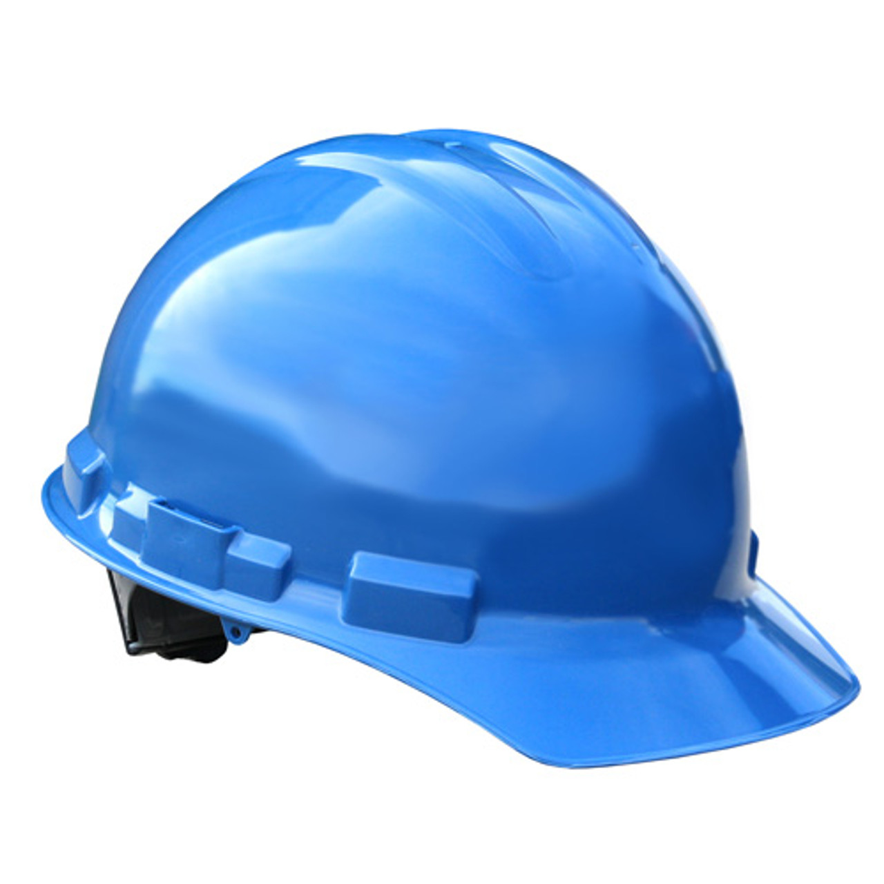 Blue Radians Hard Hat with Ratchet Suspension  Made in The USA