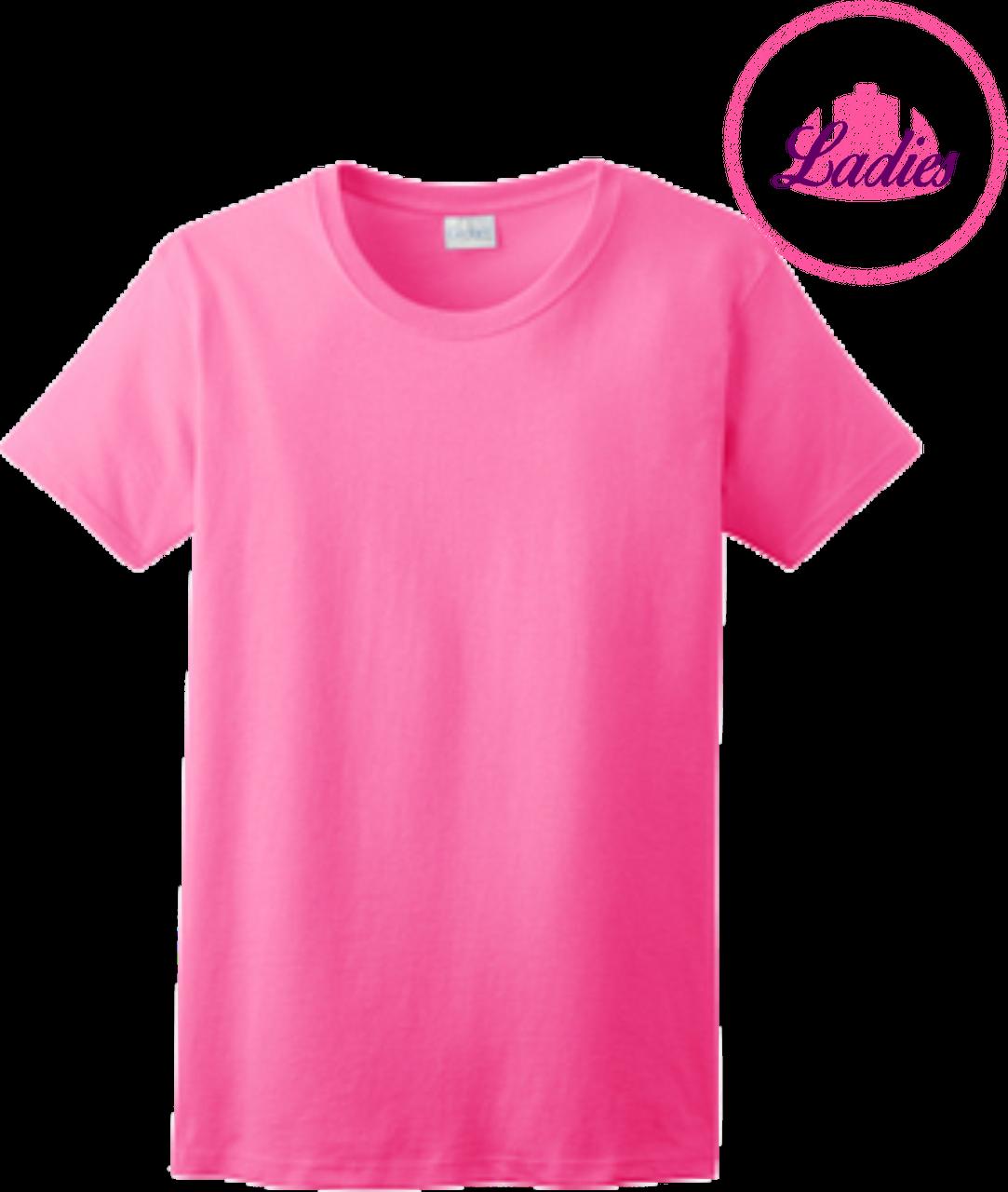 Ladies Safety Green Short Sleeve T Shirt