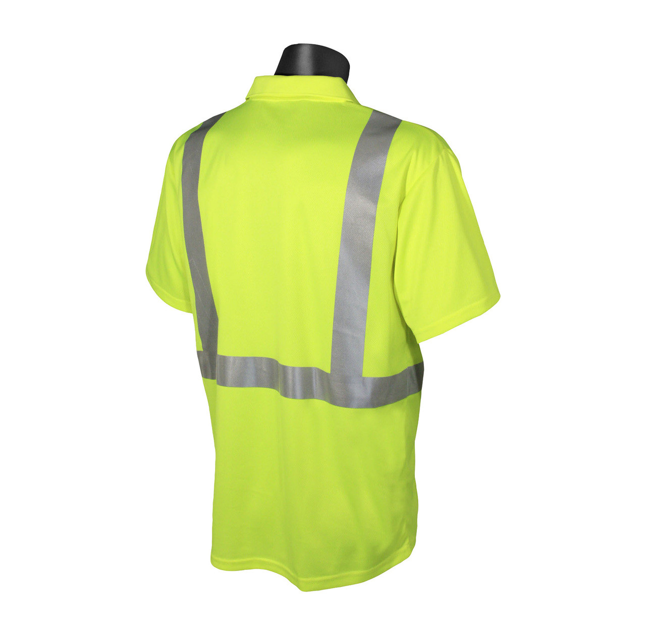 Hi-Vis Green Class 2 Safety Short Sleeve Polo *Custom Printing Available*