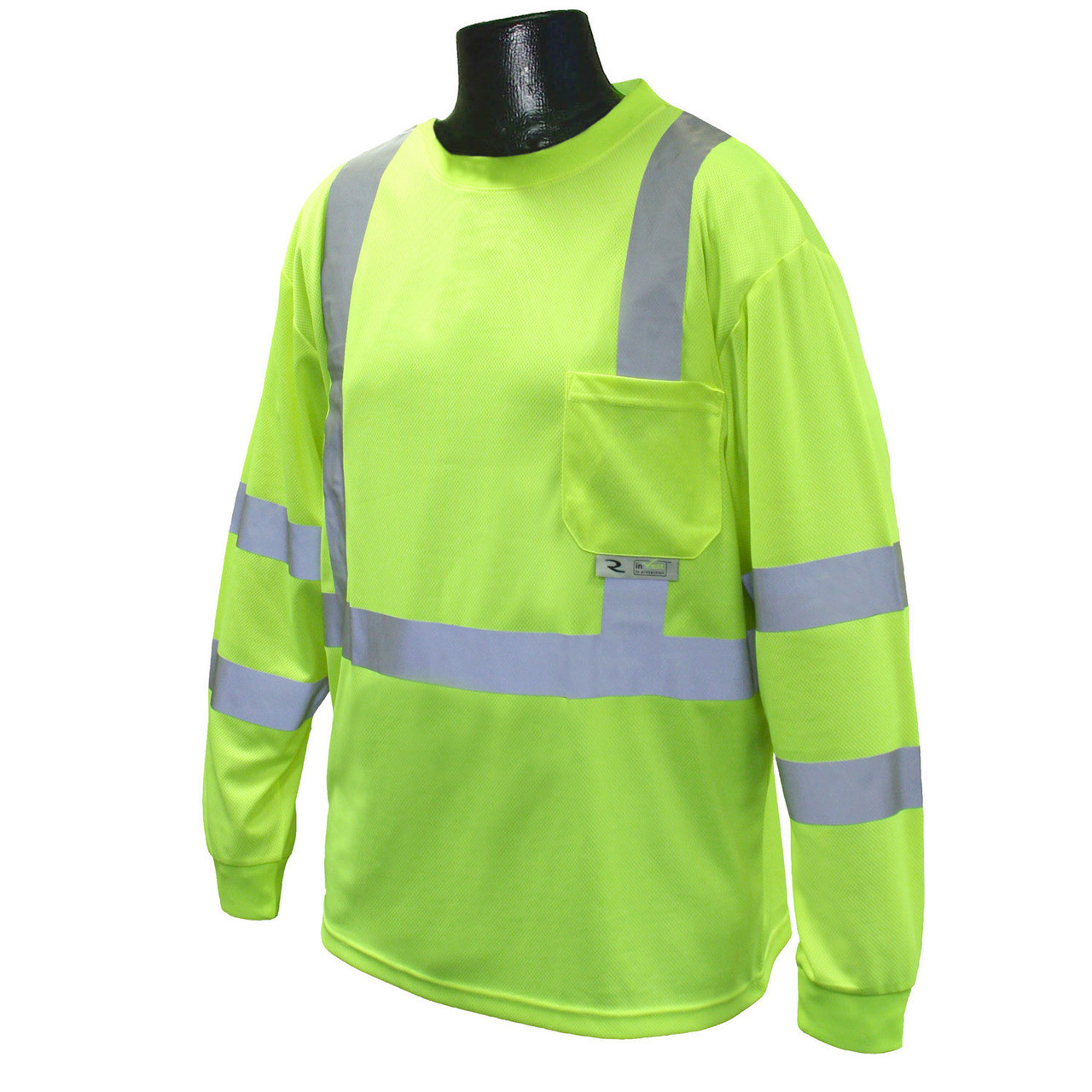 Hi-Vis Green Class 3 Long Sleeve T-Shirt with MAX-DRI™ *Custom Printing Available*