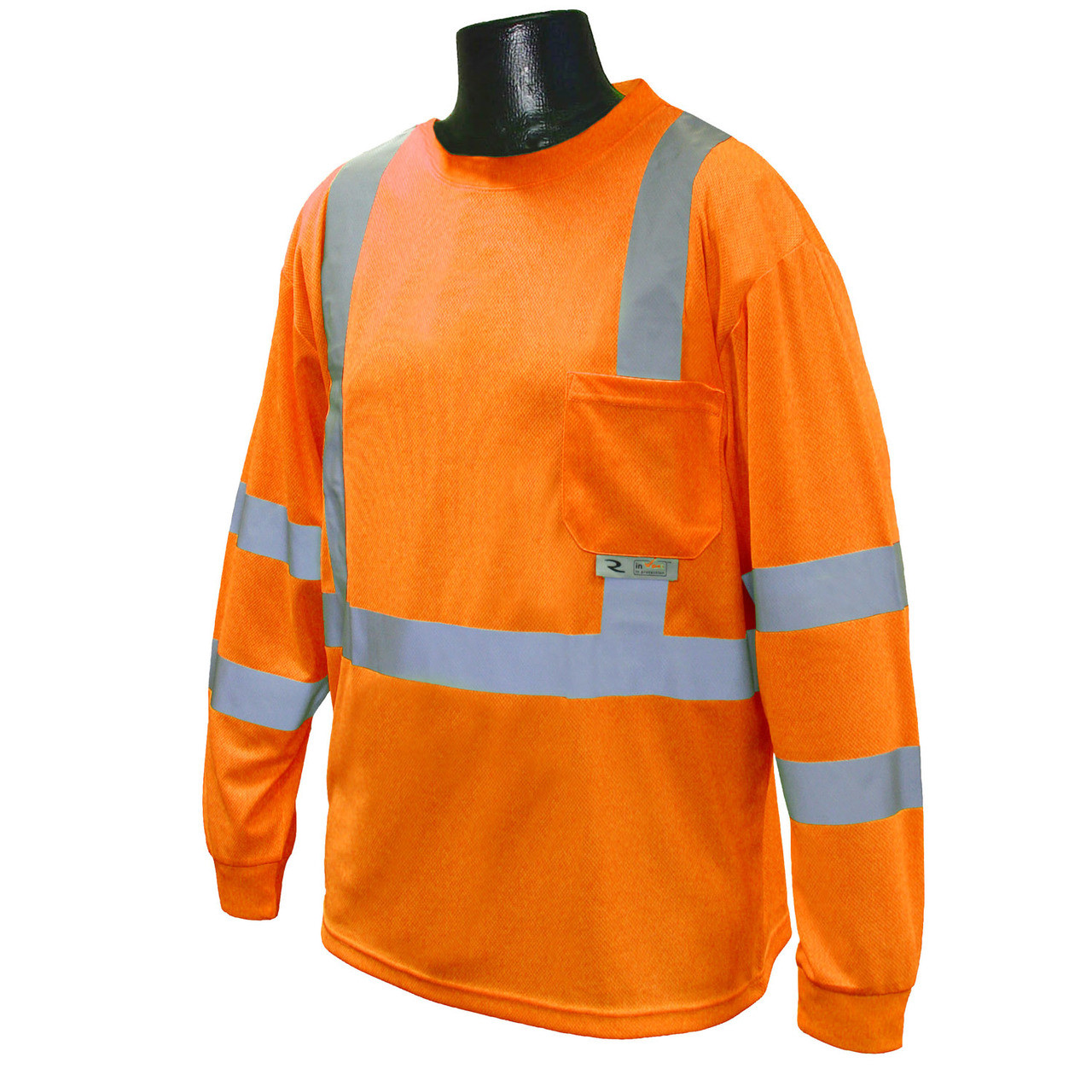 Hi-Vis Orange Class 3 Long Sleeve T-Shirt with MAX-DRI™ *Custom Printing Available*