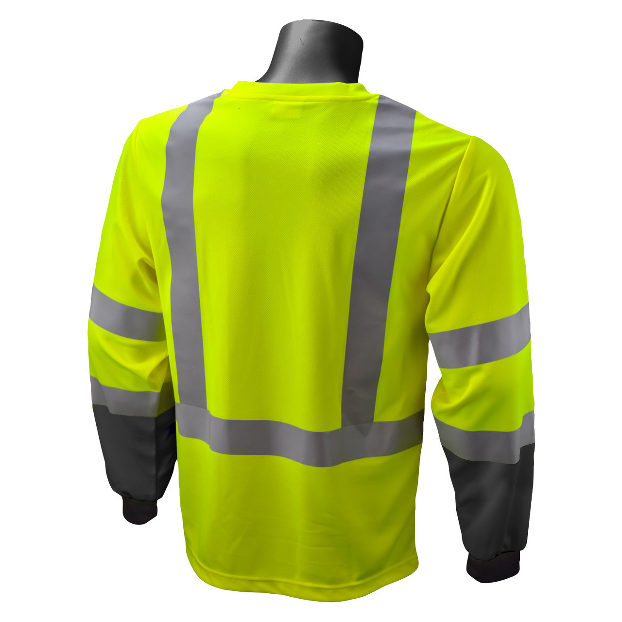 Hi-Vis Green with Black Bottom Type R Class 3 Long Sleeve T-Shirt *Custom Printing Available*